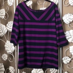 The limited purple stripped shirt.